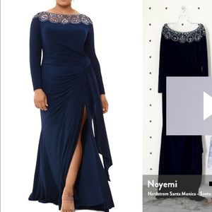 Special occasion navy blue dress
